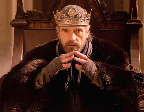 "Jeremy Irons as King Henry IV in ""Hollow Crown - Henry IV, Part I."""