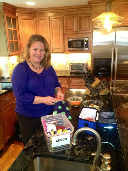 Christine Landino of West Hartford suggests turning packing lunches into a task organized on Sundays.