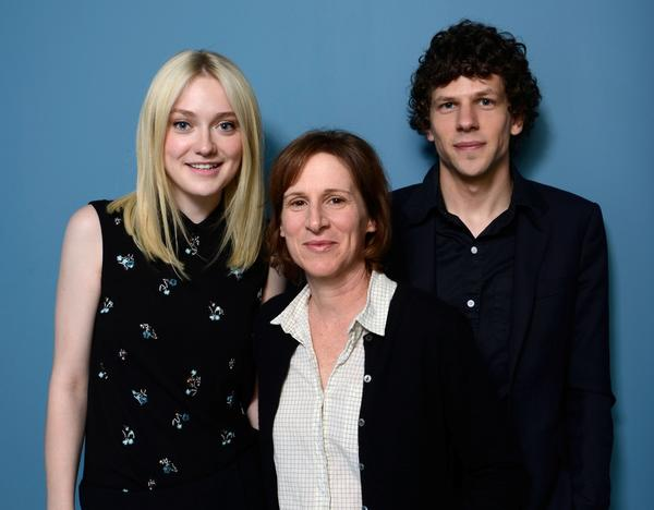 "Dakota Fanning, left, director Kelly Reichardt and Jesse Eisenberg of ""Night Moves."""