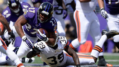 Pro Bowl running back Ray Rice is doubtful for Sunday's game