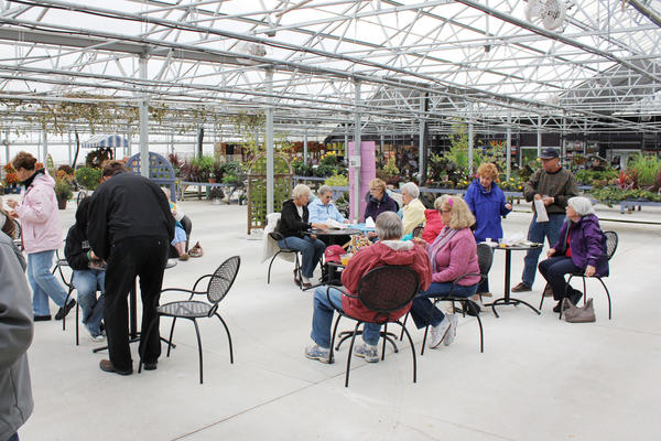Art enthusiasts will be treated to an art show beneath the glass greenhouse at Pine Hill Nursery.