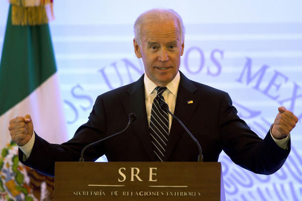 Vice President Joe Biden speaks at the U.S.-Mexico High Level Economic Dialogue in Mexico City on Friday.