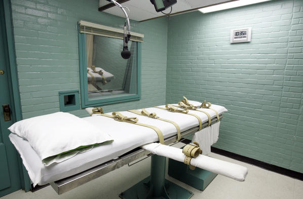 The death chamber in Huntsville, Texas.