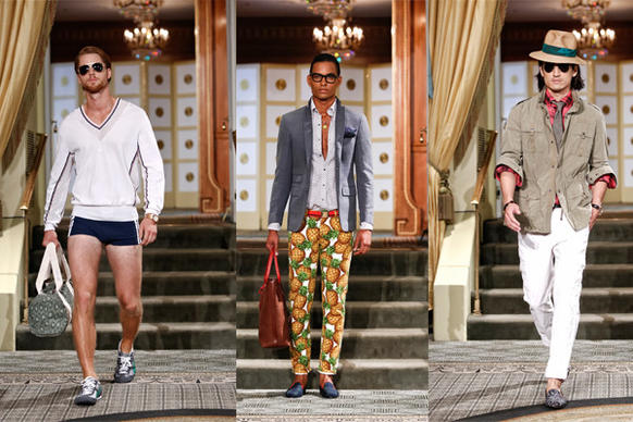 Michael Bastian showed a tropical motif with pineapple prints and athletic wear.