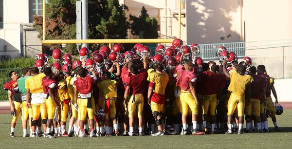 ARCHIVE PHOTO: The Glendale Community College football team is looking to rebound from a loss to San Bernardino Valley College at home against San Diego Mesa Saturday.