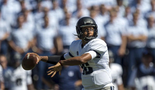 Utah State quarterback Chuckie Keeton has throw for 923 yards and 12 touchdowns with only one interception this season before facing USC on Saturday.