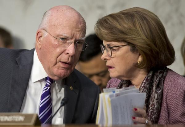 The Senate Judiciary Committee has approved a bill that would provide protection for journalists who promise confidentiality to their sources. Above, Senate Judiciary Committee Chairman Patrick Leahy (D-Vt.) speaks with Sen. Dianne Feinstein (D-Calif.) at a committee meeting in July.