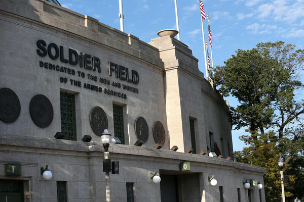Exterior of Soldier Field.