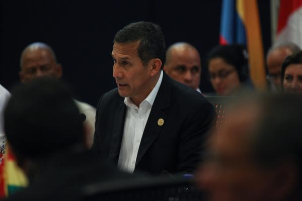 Peruvian President Ollanta Humala attends the UNASUR summit in Paramaribo, Suriname, this summer.