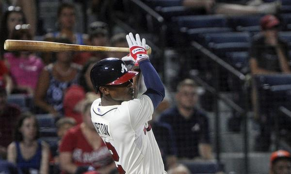 Atlanta Braves outfielder B.J. Upton has struggled mightily at the plate since joining the team.