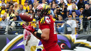 Stinebaugh's 'hard work' pays off with first Terps touchdown catch