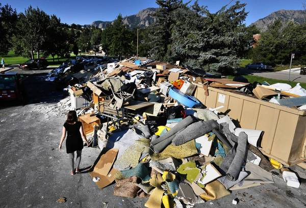 Boulder, Colo., flood damage