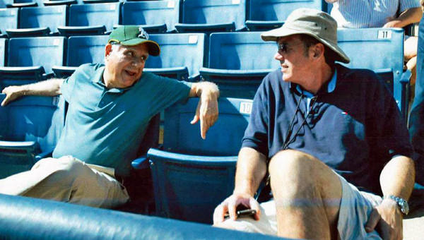 Oakland Athletics managing partner Lew Wolff, left, and general manager Billy Beane have defied conventional tactics in molding a franchise that is one of baseball's best.