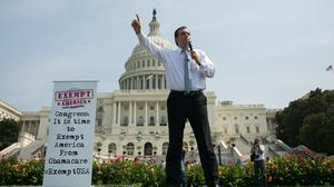 Sen. Ted Cruz vows bid to block budget bill if it funds healthcare law