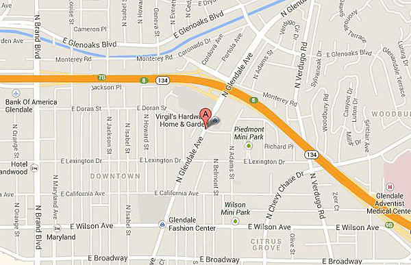Map shows approximately where a woman was fatally struck by a car in Glendale.