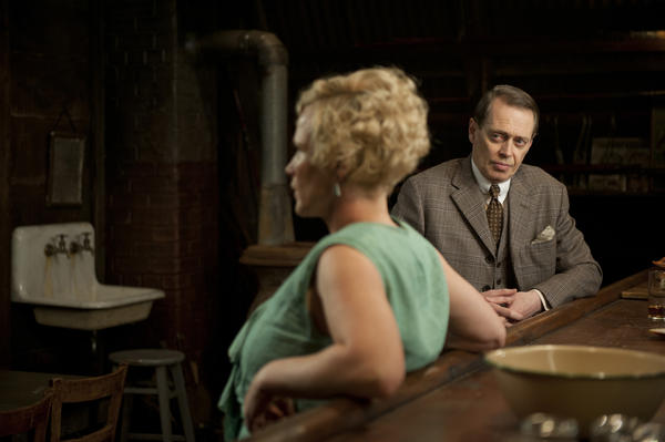 "Nucky Thompson, played by Steve Buscemi, right, finds a kindred spirit in Tampa speakeasy owner Sally Wheet (Patricia Arquette) on ""Boardwalk Empire."""
