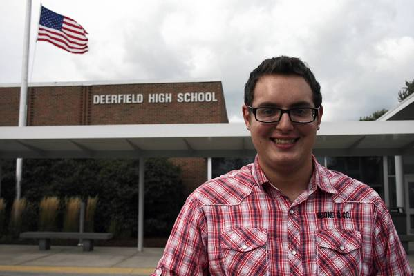 Deerfield High School senior Joe Tyler Gerber, who indentifies as being gay, said he would have benefitted from a pride youth group when he was in middle school.
