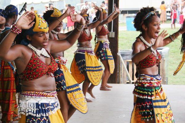 Dancers perform during the 20th annual Kunta Kinte Heritage Festival in Annapolis.