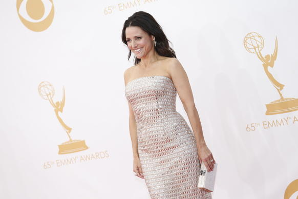 """Veep's"" Julia Louis-Dreyfus in Monique Lhuillier."