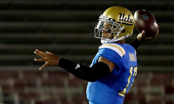 UCLA Coach Jim Mora has a positive take on how Brett Hundley performed against New Mexico State on Saturday.