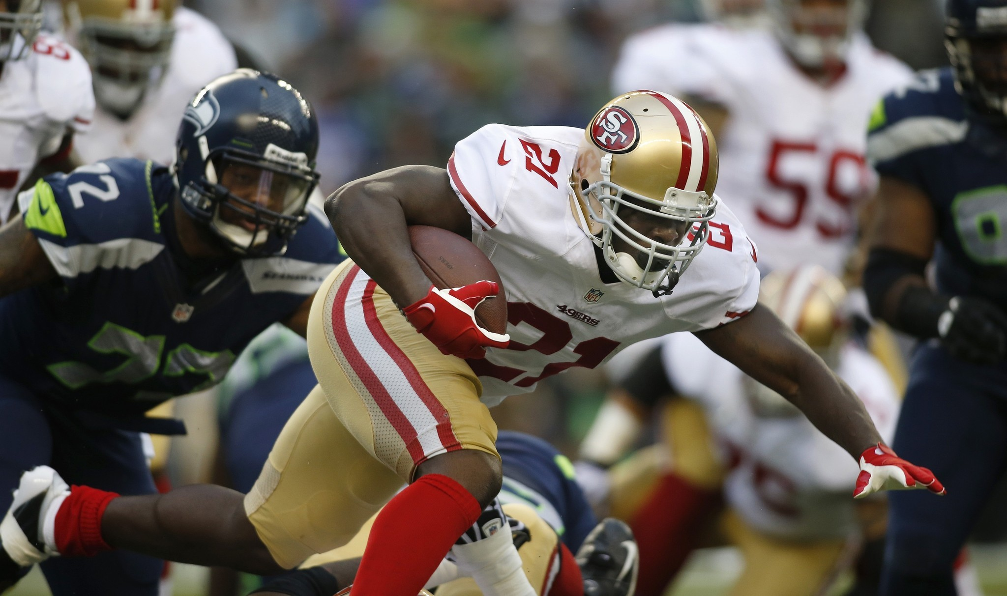 Frank Gore reportedly yelled at Jim Harbaugh after 49ers loss