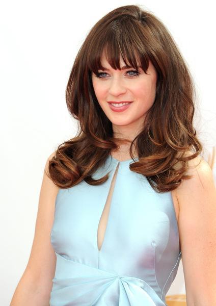 Actress Zooey Deschanel.