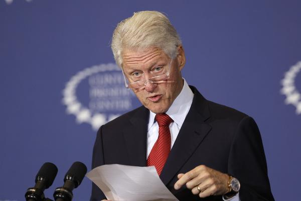 Former President Bill Clinton speaking this month at the Clinton Presidential Center in Little Rock, Ark.