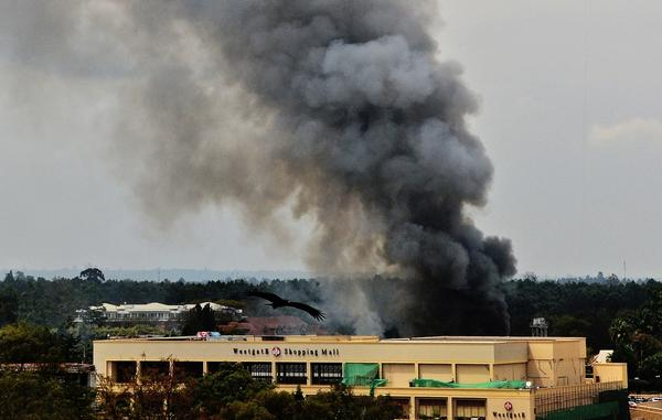 Westgate Mall attack - Fire at Westgate mall