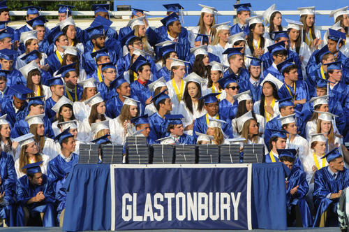 Most of Glastonbury High School's Class of 2013 is attending either a four-year or two-year college.