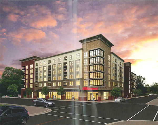 The proposed development on Central Avenue and Wilson Avenue would bring a CVS pharmacy to downtown Glendale.