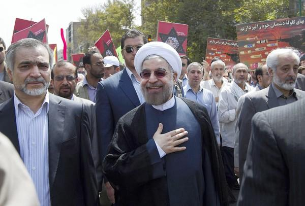 Iranian President Hassan Rouhani was elected in June after a campaign that included pledges to ease Iran's isolation and improve relations with the West.