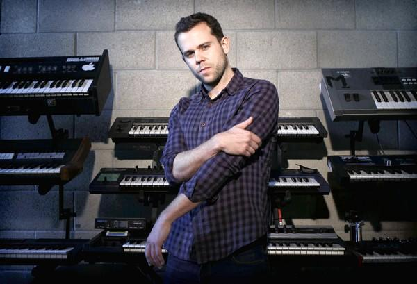 Anthony Gonzalez, who performs as M83, brought his wide-eyed music to the Hollywood Bowl.