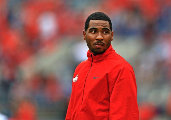 Ohio State Buckeyes quarterback Braxton Miller (5) prior to the game against the Florida A&M Rattlers at Ohio Stadium.