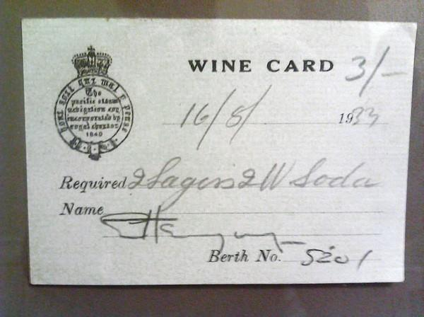 A wine card signed by author Ernest Hemingway in 1933 will be auctioned at an upcoming Ernest Hemingway Foundation of Oak Park fundraiser.
