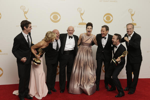 """Breaking Bad"" had plenty of reasons to celebrate at the Emmys."