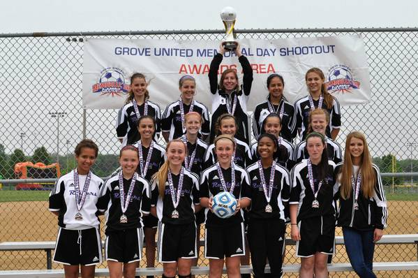 The Bolingbrook Soccer Club's Under-16 girls squad, shown here at a competition earlier this year, were selected this summer to play in the state's elite premier division.