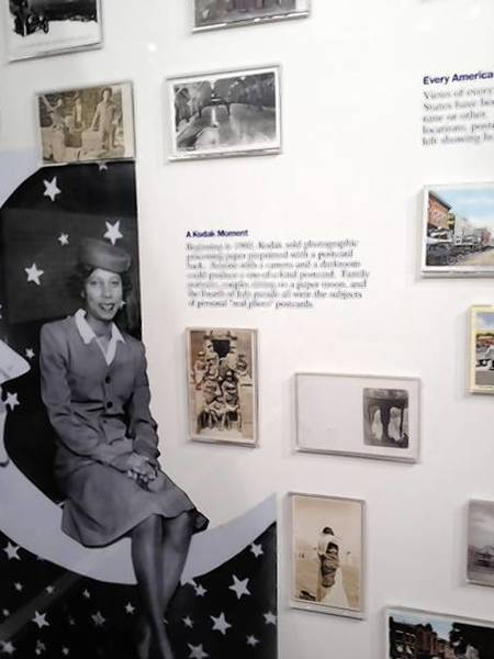 """One of the special collections featured in the """"Bringing the World Home"""" postcard exhibit at the Lake County Discovery Museum. This special collection relates to """"real photograph"""" postcards of family portraits or special events."""