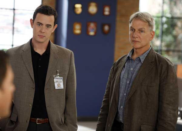 "An investigation changes Parsons' (Colin Hanks, left) perspective on ""NCIS"" on CBS. With Mark Harmon."