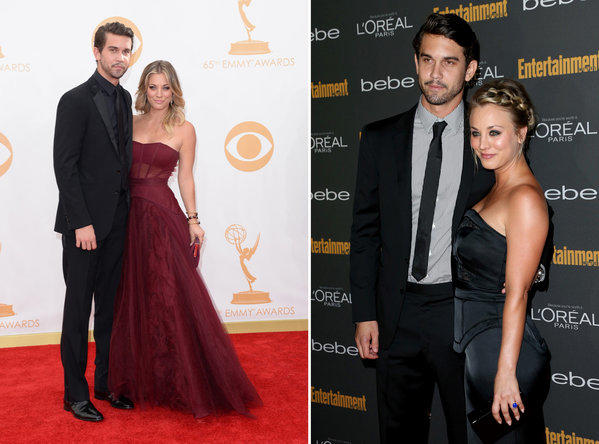 """The Big Bang Theory"" star Kaley Cuoco, right, stepped out with her new boyfriend Ryan Sweeting at Emmy events twice over the weekend."