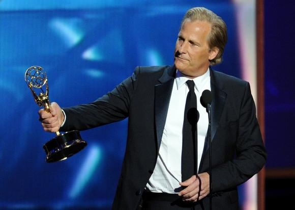 "Jeff Daniels won a best actor Emmy on Sunday for HBO's ""The Newsroom."""