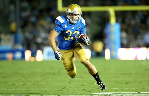 "UCLA running back Steven Manfro says ""there's no better feeling in the world than getting a touchdown."""