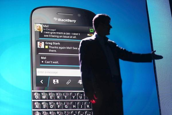 BlackBerry said it had signed a letter of intent with a consortium led by Fairfax Financial Holdings Limited, which plans to take the smartphone maker private. Above, BlackBerry Chief Executive Thorsten Heins during a January launch event for the Blackberry 10 smartphones.