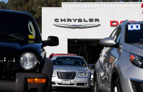 Through the first eight months of this year, Chrysler has sold more than 1.2 million vehicles in the U.S., up nearly 10% from the same period a year earlier. Above, Chrysler vehicles for sale at a dealership in Colma, Calif.