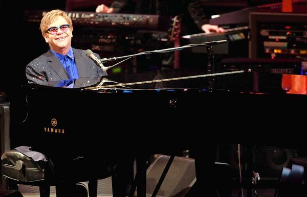 "Elton John performs old and new material, including songs from his new album ""The Diving Board,"" with USC Thornton School of Music students at Bovard Auditorium."