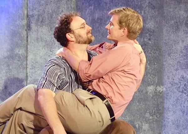 "Tim Cummings, left, and Bill Brochtrup in a scene from ""The Normal Heart"" at Fountain Theatre."