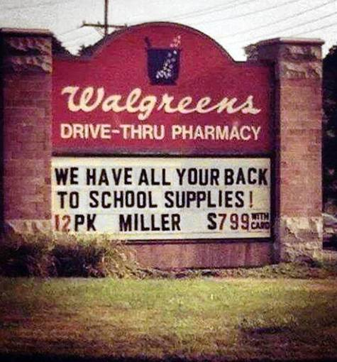 A reader submitted this apparent blooper photo of a Walgreens sign after receiving it from his daughter, a first-grade teacher in Colorado.