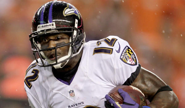Baltimore's Jacoby Jones was injured during an off-field incident Sunday night but was able to work out as planned on Monday.