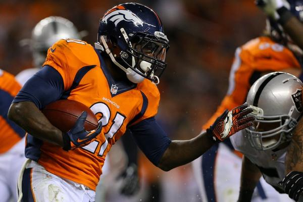 Ronnie Hillman showed his prowess running -- and in playing rock, paper, scissors.