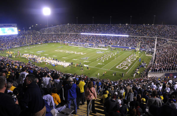 UConn leaves Rentschler Field this week for a game at Buffalo. Saturday, the Rent was filled for Michigan.