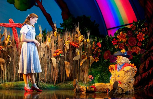 """Danielle Wade as Dorothy and Jamie McKnight as Scarecrow in """"The Wizard of Oz."""""""